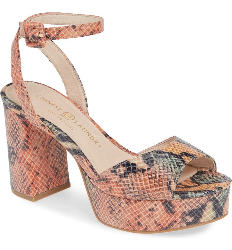 CHINESE LAUNDRY Theresa Platform Sandal, Main, color, NUDE MULTI