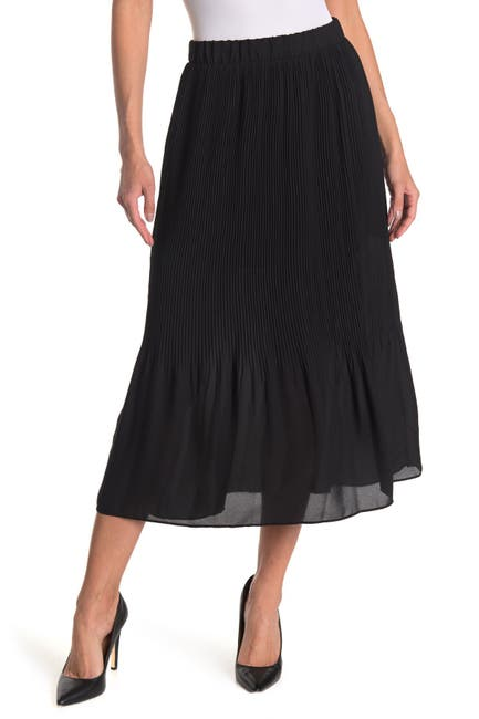 Image of Pleione Release Pleat Maxi Skirt