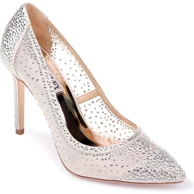 Badgley Mischka Weslee Pointy Toe Pump, Ivory