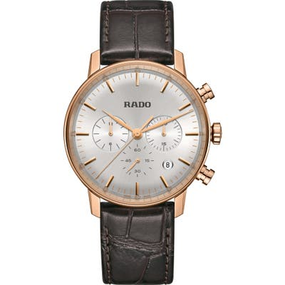 Rado Coupole Classic Chronograph Leather Strap Watch, 42Mm