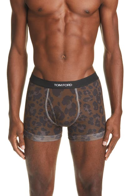 Tom Ford Cottons LEOPARD PRINT BOXER BRIEFS