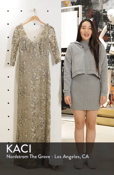 Corded Embroidered Lace Gown, sales video thumbnail