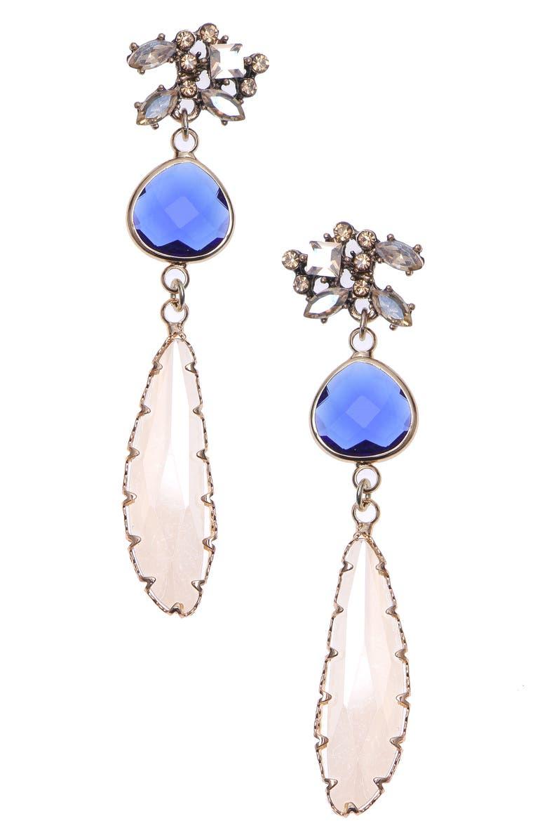 NAKAMOL CHICAGO Glass Drop Earrings, Main, color, 400