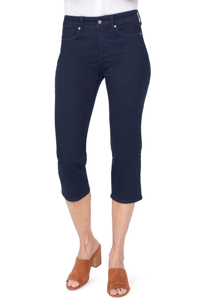NYDJ Straight Leg Capri Jeans, Main, color, MEDEIROS