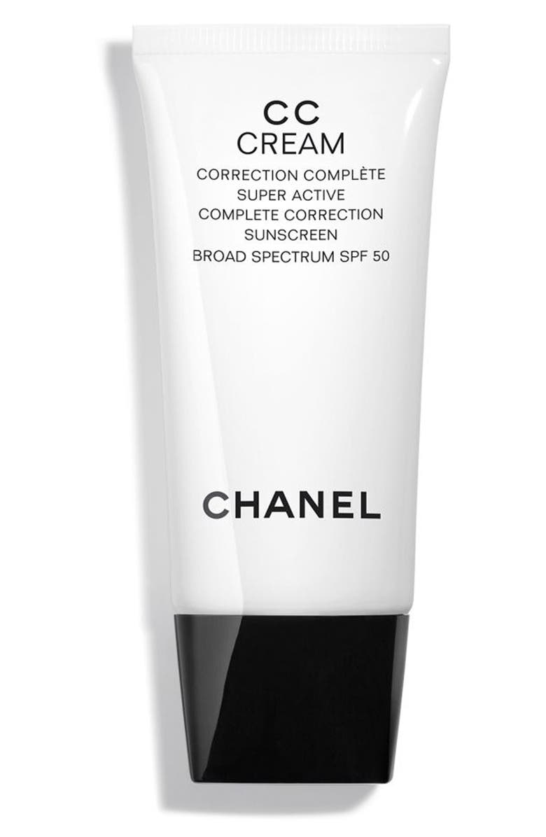 CHANEL CC CREAM Super Active Correction Complete Sunscreen SPF 50, Main, color, BEIGE 20