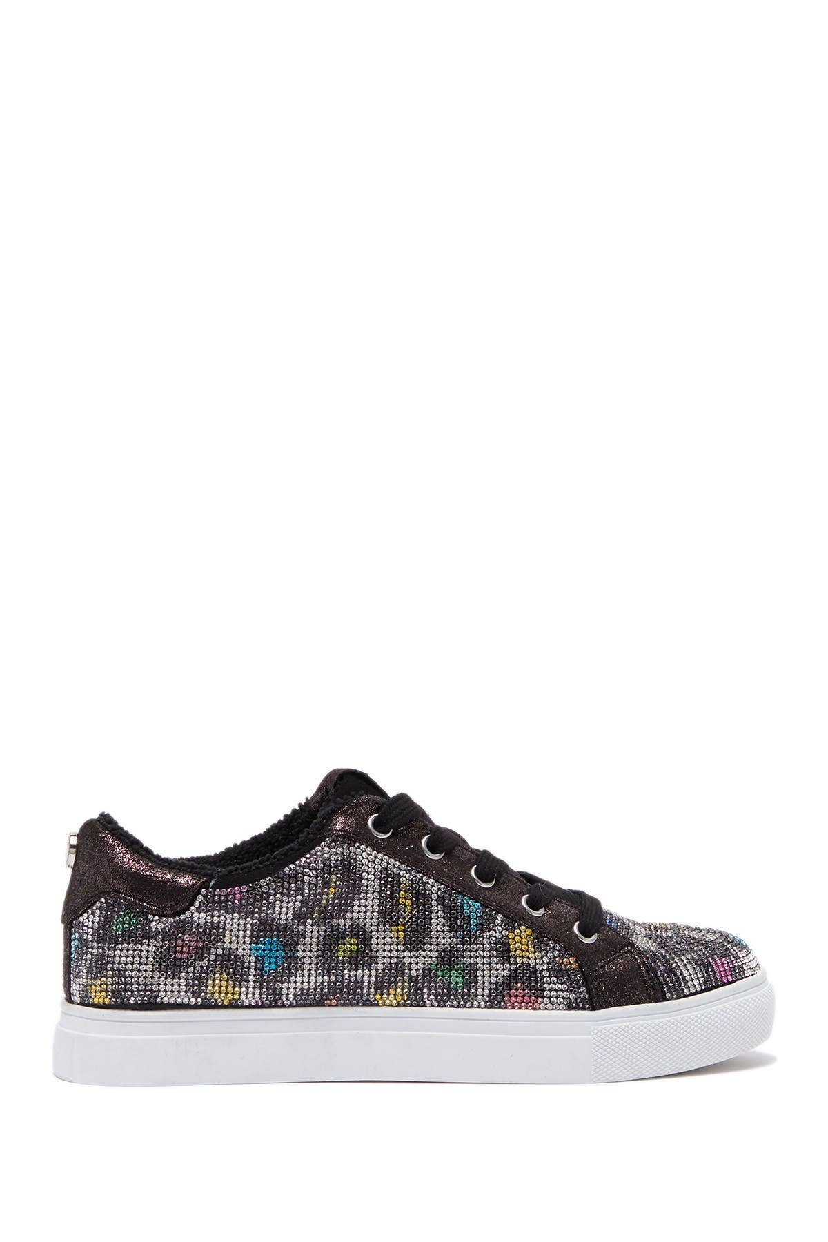 Image of Steve Madden Ceecee Embellished Leopard Print Sneaker