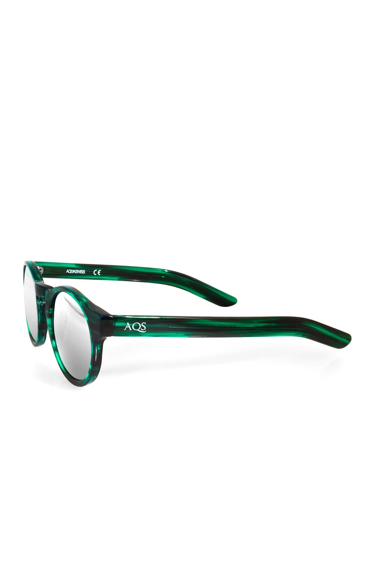Image of AQS Benni 49mm Green Acetate Sunglasses