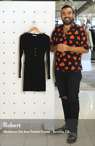 Jani Long Sleeve Ribbed Minidress, sales video thumbnail