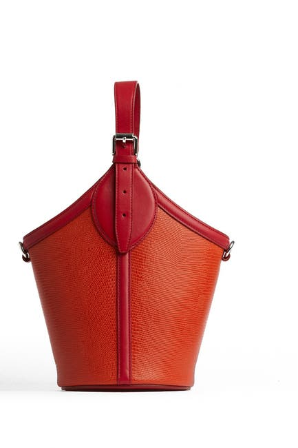 Image of Rebecca Minkoff Pippa Leather Top Handle Bucket Bag