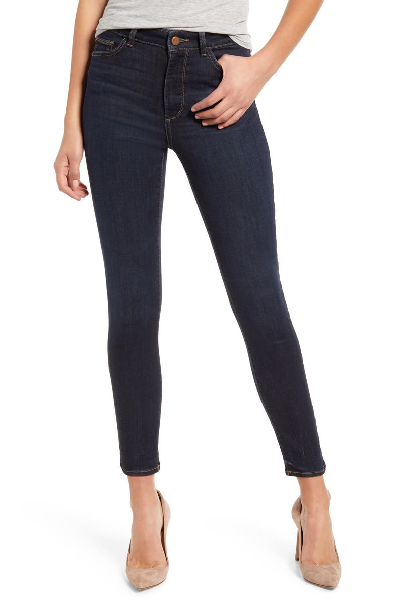 Instasculpt Farrow High Waist Ankle Skinny Jeans, Main, color, WILLOUGHBY