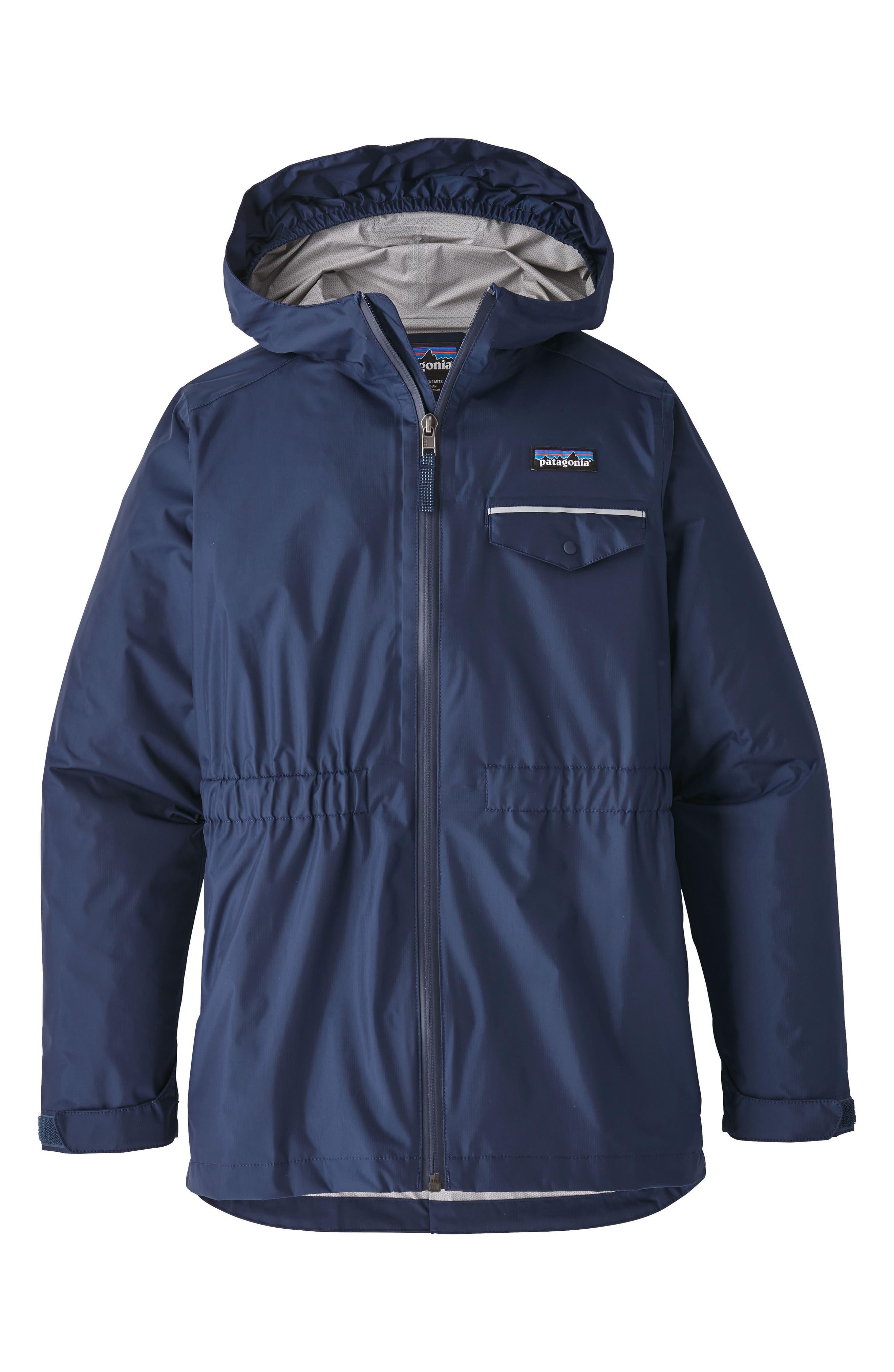 Girls Patagonia Torrentshell Jacket Size XL (14)  Blue