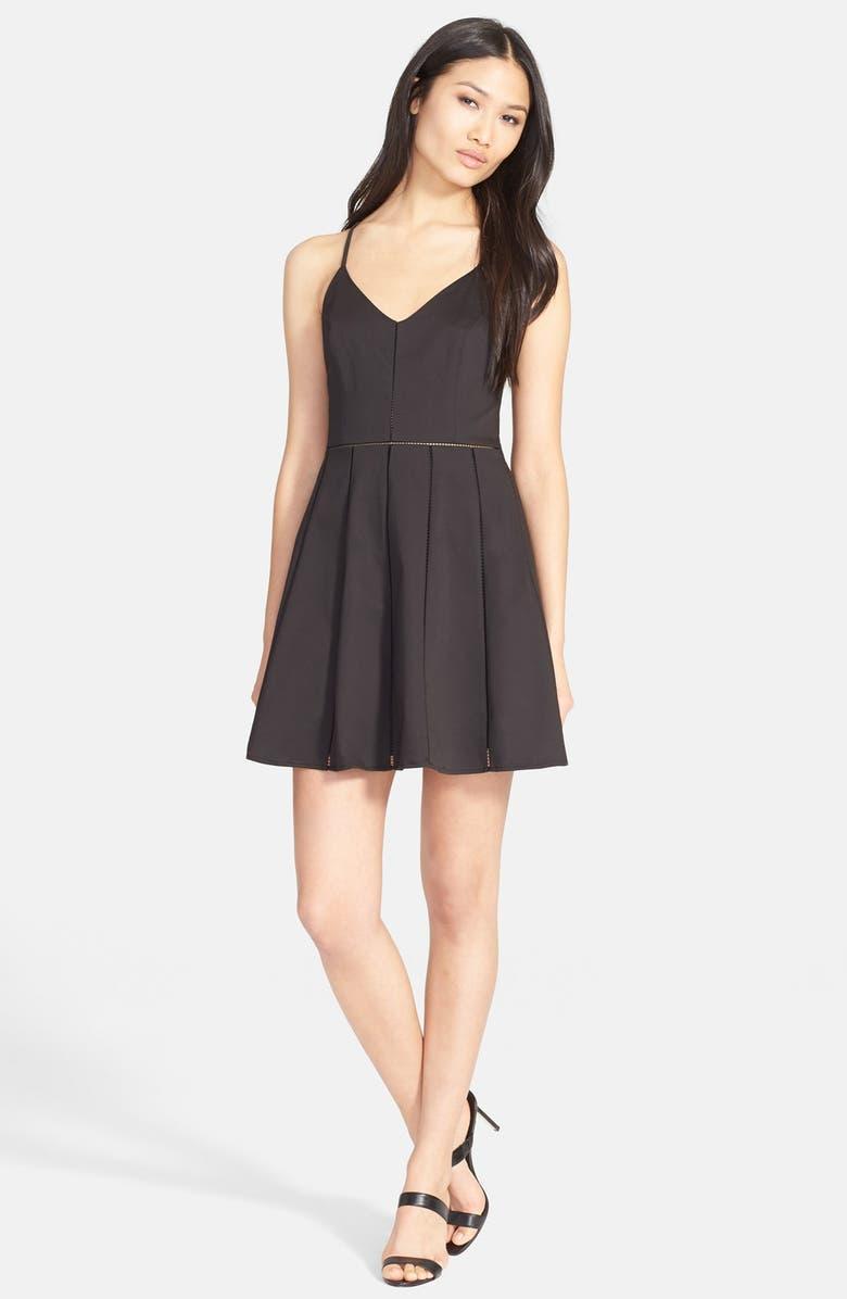 PARKER 'Juliet' Fit & Flare Dress, Main, color, 001