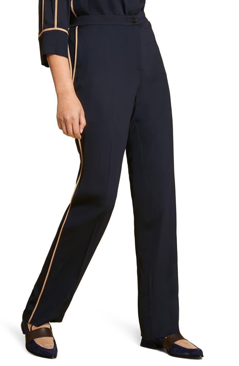 MARINA RINALDI Radicale Side Stripe Pants, Main, color, NAVY