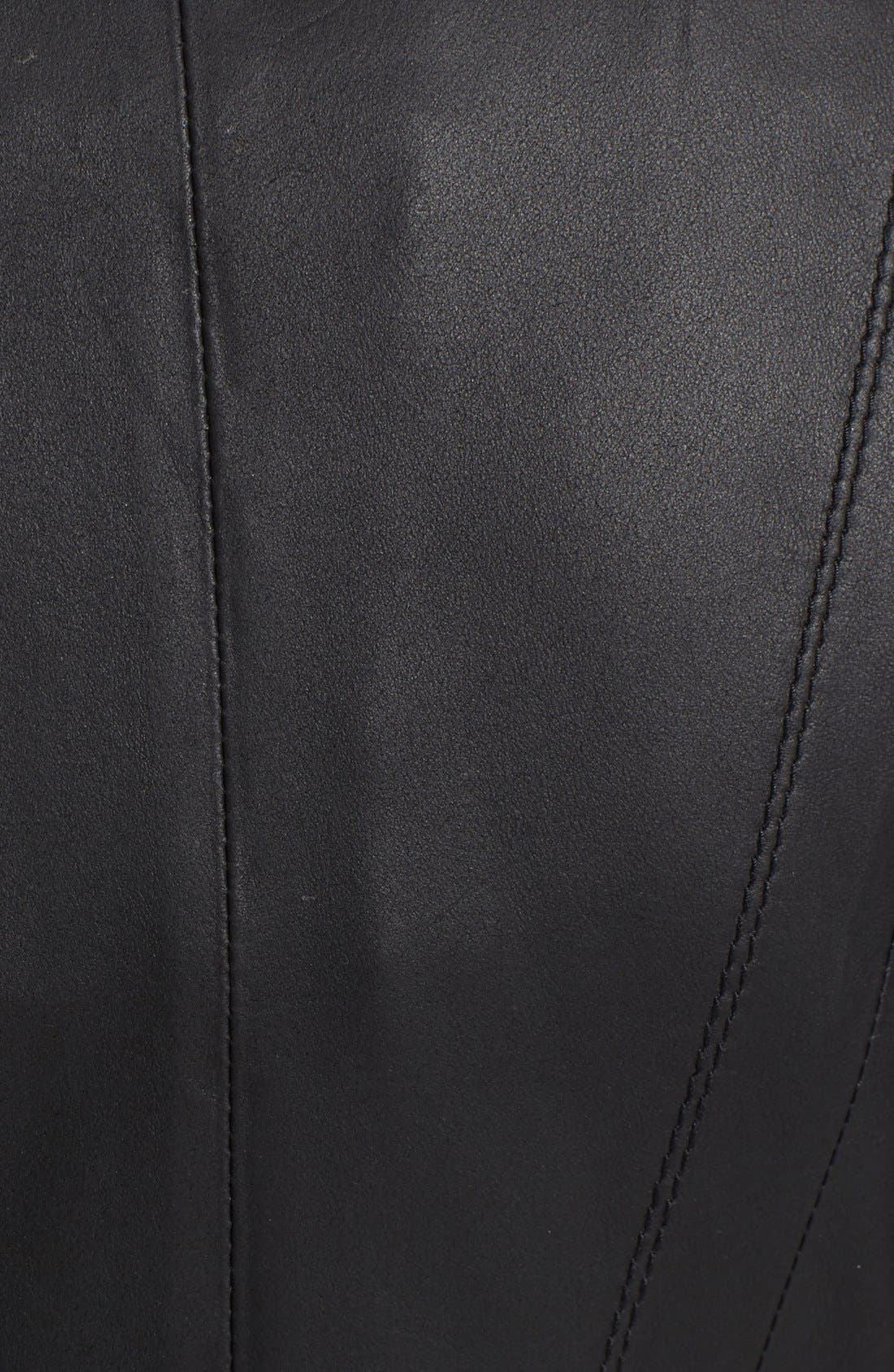 ,                             Marc New York by Andrew Marc Felix Stand Collar Leather Jacket,                             Alternate thumbnail 8, color,                             BLACK