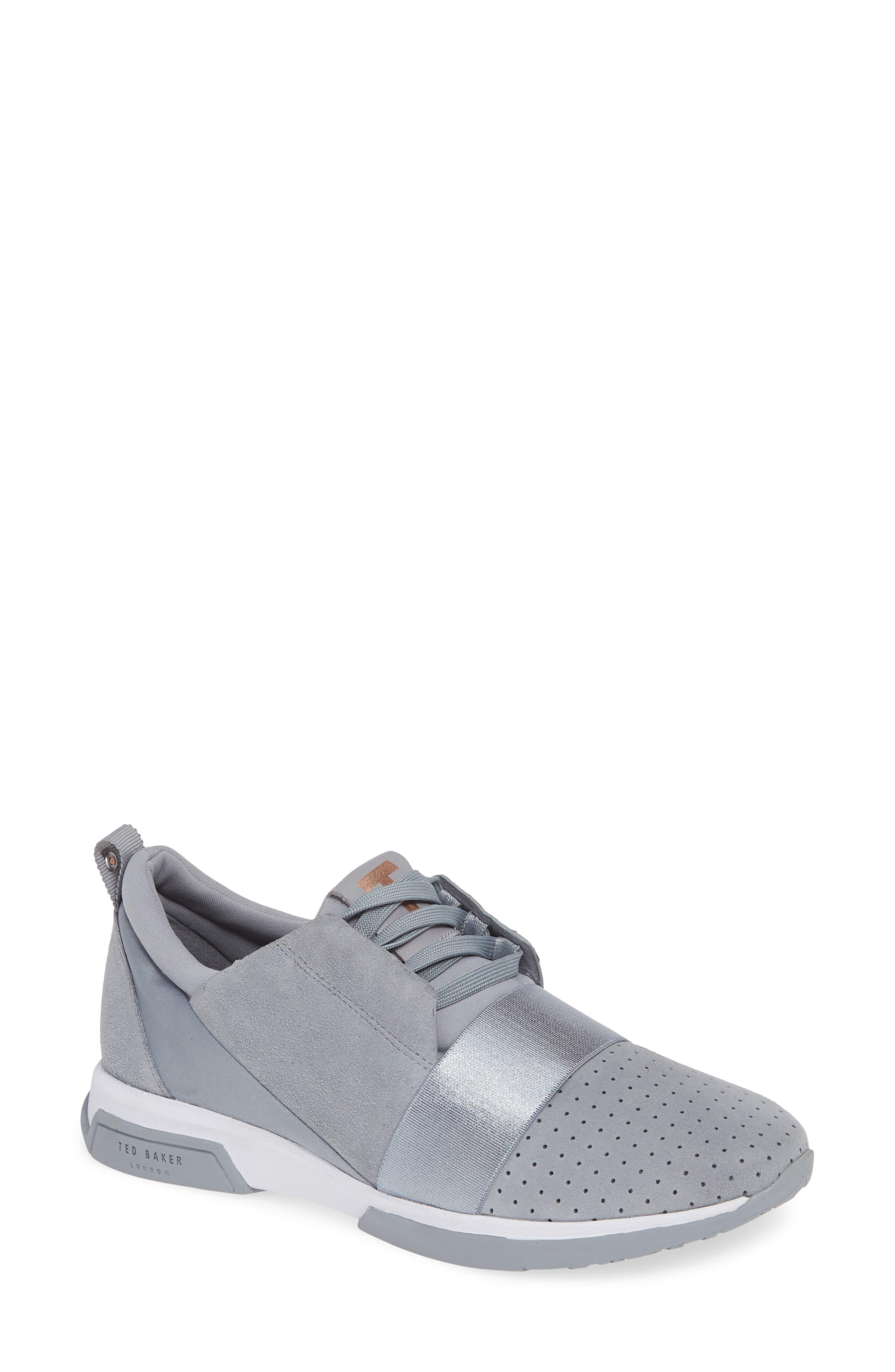 Cepap Sneaker, Main, color, SLATE GREY SUEDE/ SATIN