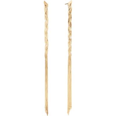 Lana Jewelry Triple Braided Linear Earrings