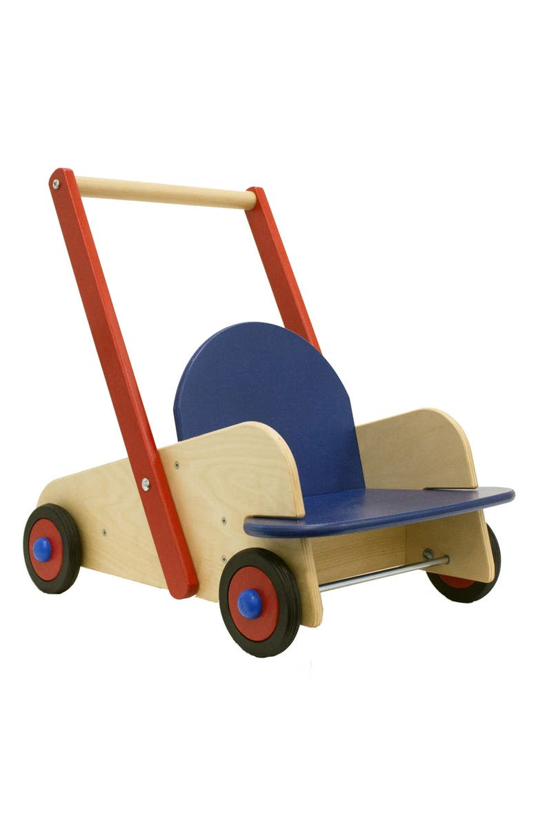 HABA Walker Wagon, Main, color, BROWN/ RED AND BLUE