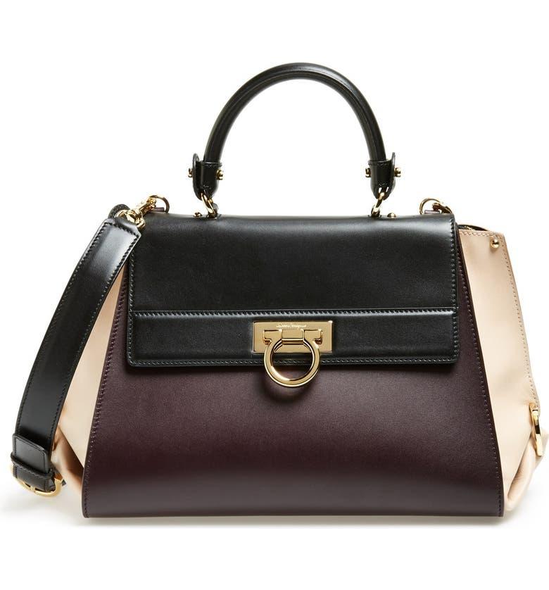 055d77988a Salvatore Ferragamo 'Sofia' Colorblock Leather Satchel | Nordstrom