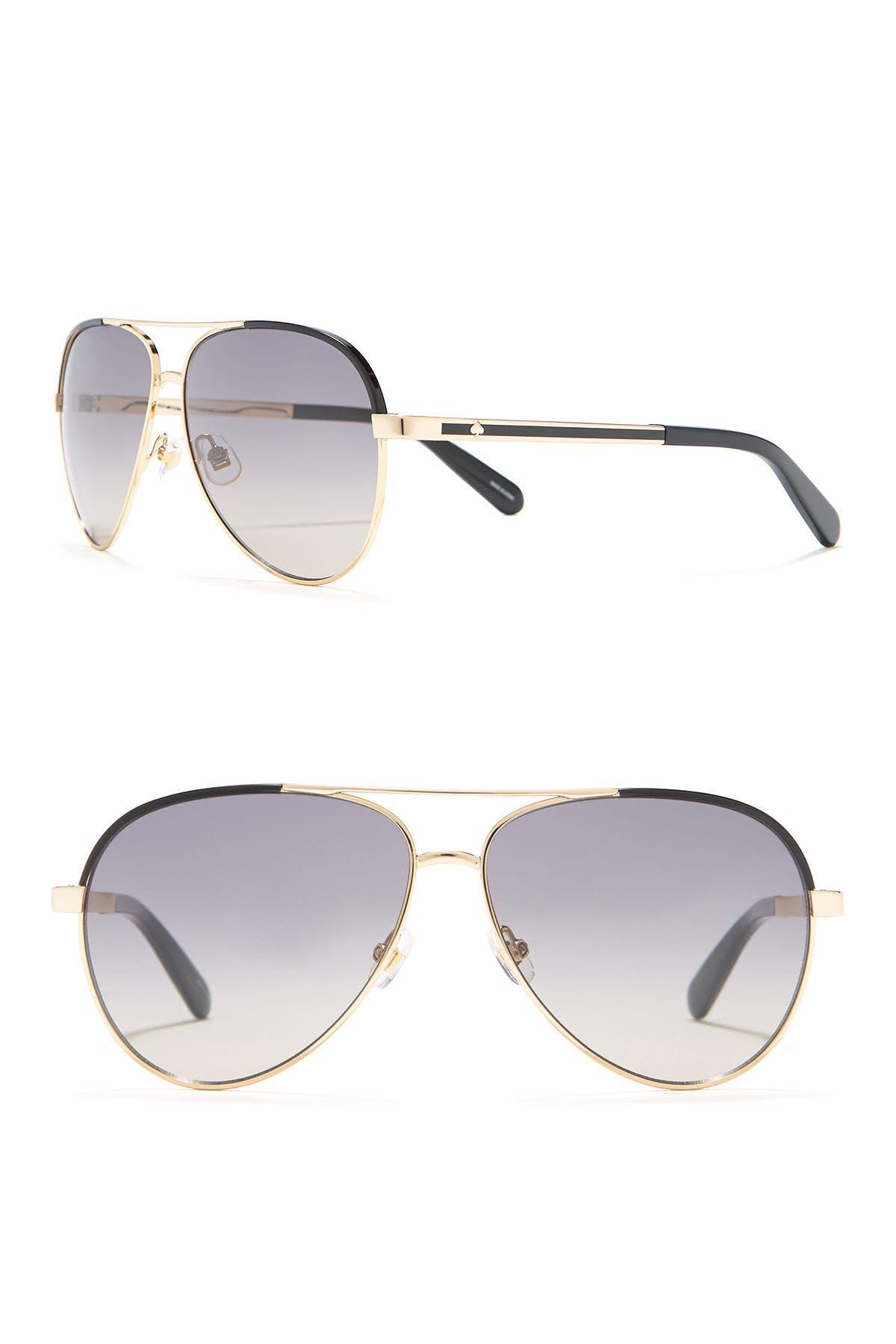 Image of kate spade new york amarissa 59mm aviator sunglasses