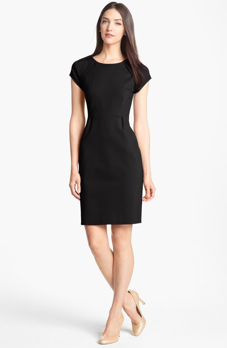 KATE SPADE NEW YORK 'ivie' stretch sheath dress, Main, color, 001