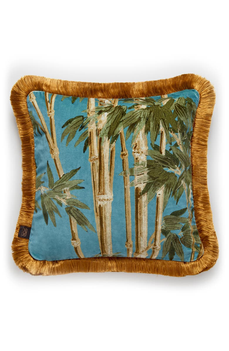 HOUSE OF HACKNEY Bambusa Velveteen Accent Pillow, Main, color, AZURE