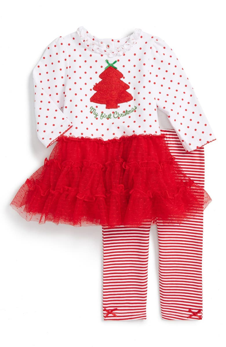 6b7a93087 Little Me 'My First Christmas' Dress & Leggings (Baby Girls) | Nordstrom