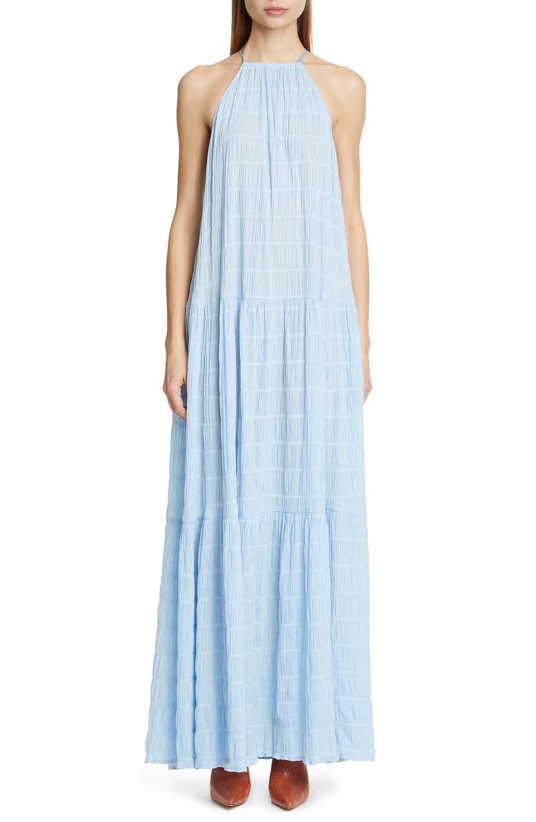 CULT GAIA Linda Crinkle Maxi Dress, Main, color, BLUEBELL