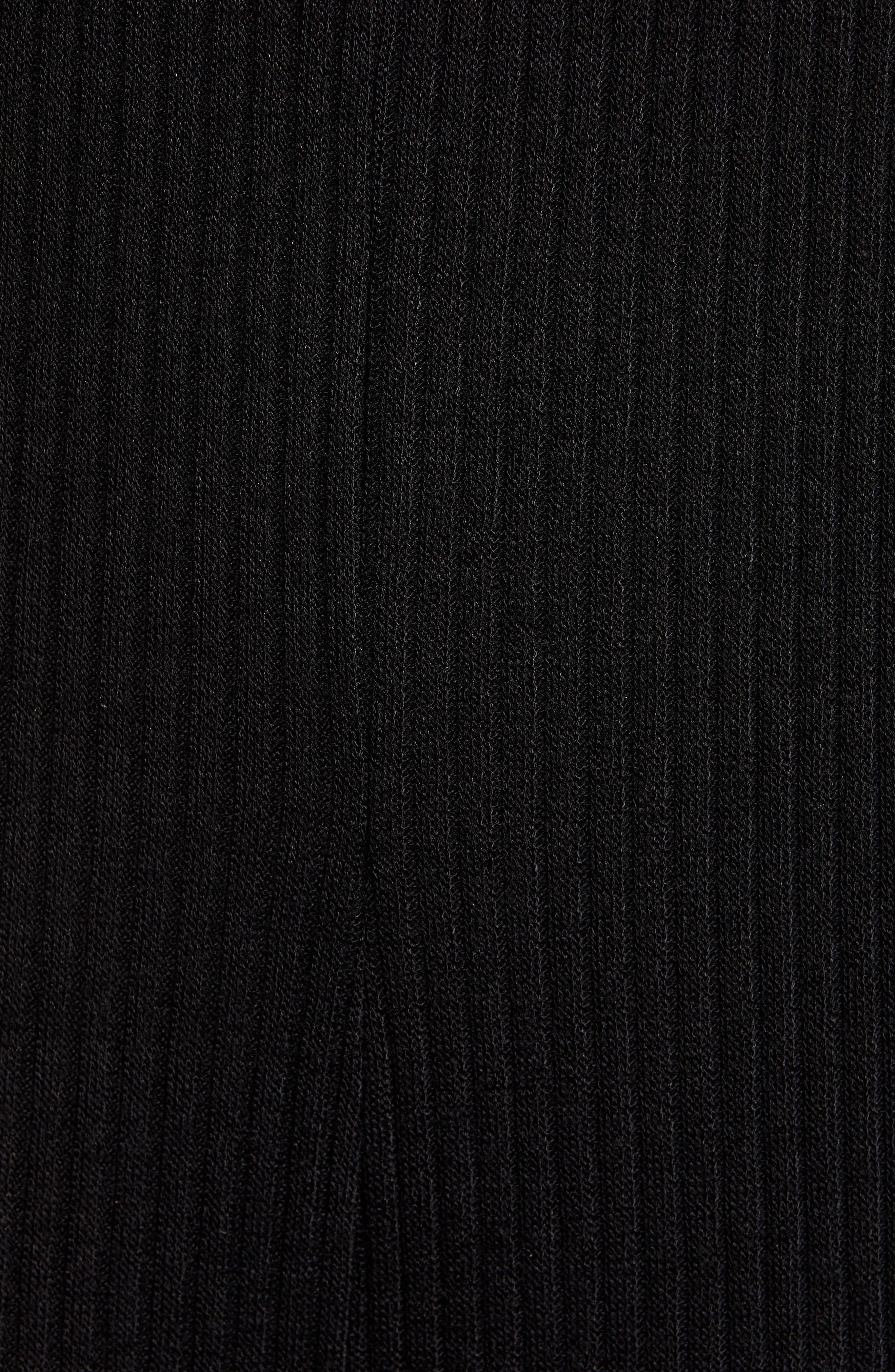 ,                             Ribbed Wide Leg Crop Jumpsuit,                             Alternate thumbnail 6, color,                             BLACK