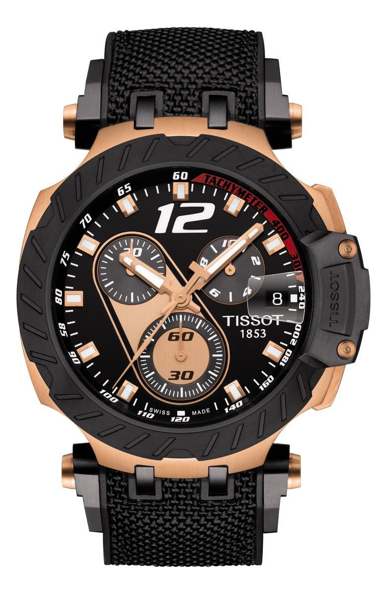TISSOT T-Race MotoGP Nylon Strap Watch 48mm, Main, color, 001