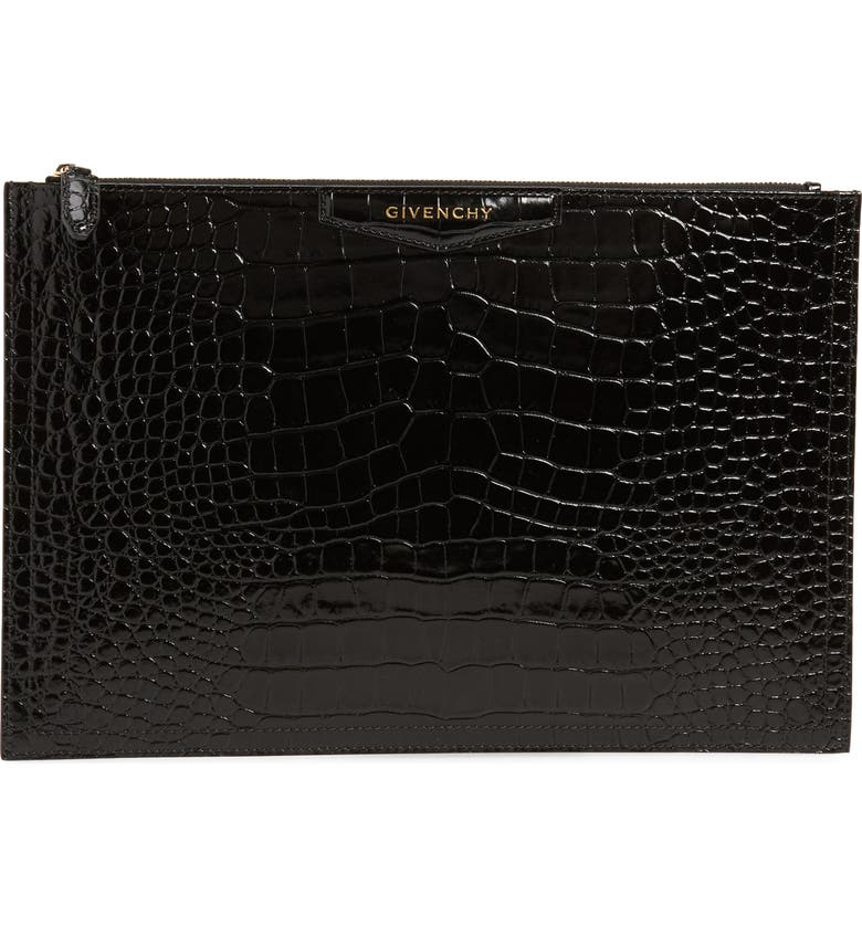 4e5faadf9d7 Givenchy Large Antigona Croc Embossed Leather Pouch | Nordstrom
