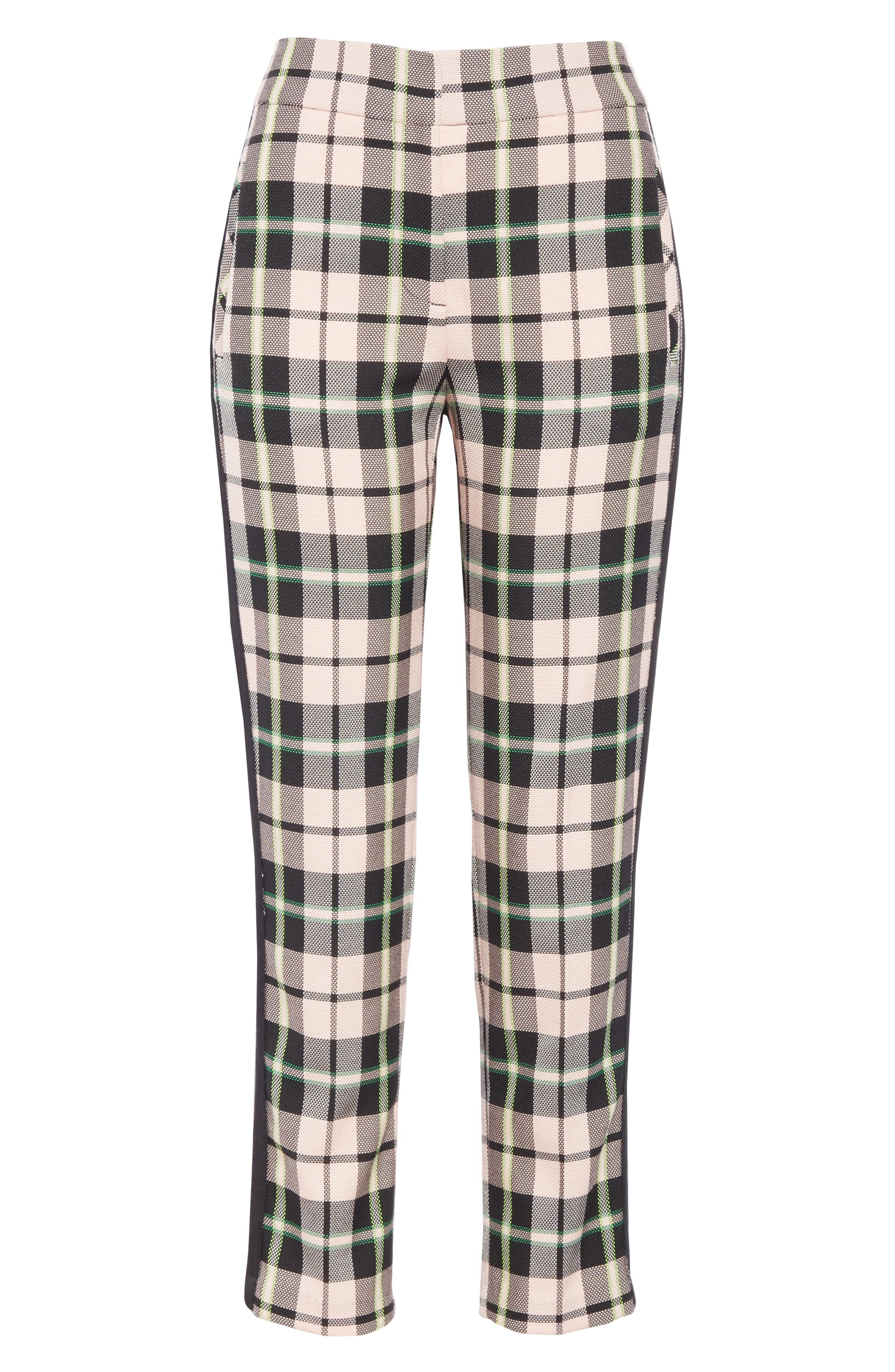 ,                             Gemini Plaid Crop Trousers,                             Alternate thumbnail 6, color,                             PINK MULTI