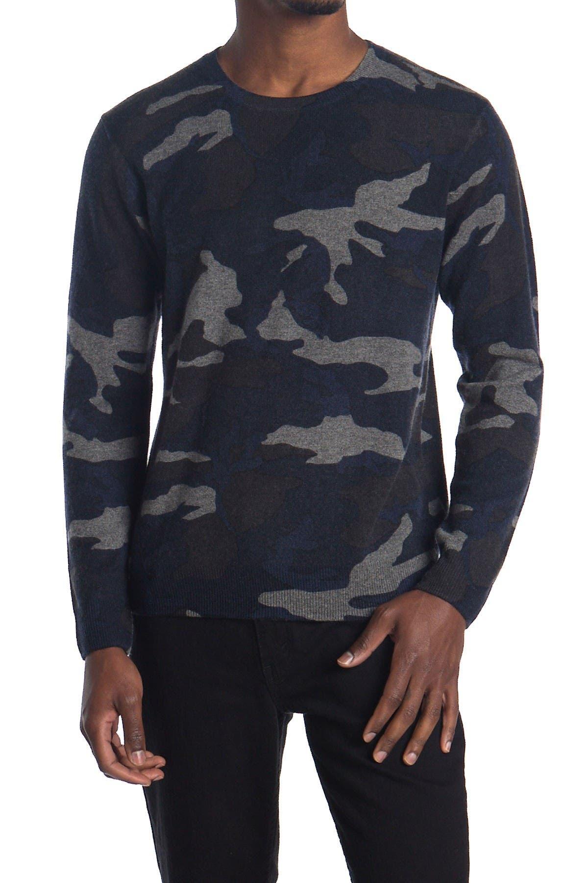 Image of Stewart of Scotland Camo Print Cashmere Sweater