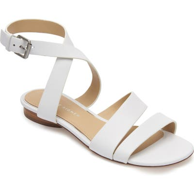 Etienne Aigner Orly Ankle Strap Sandal, White