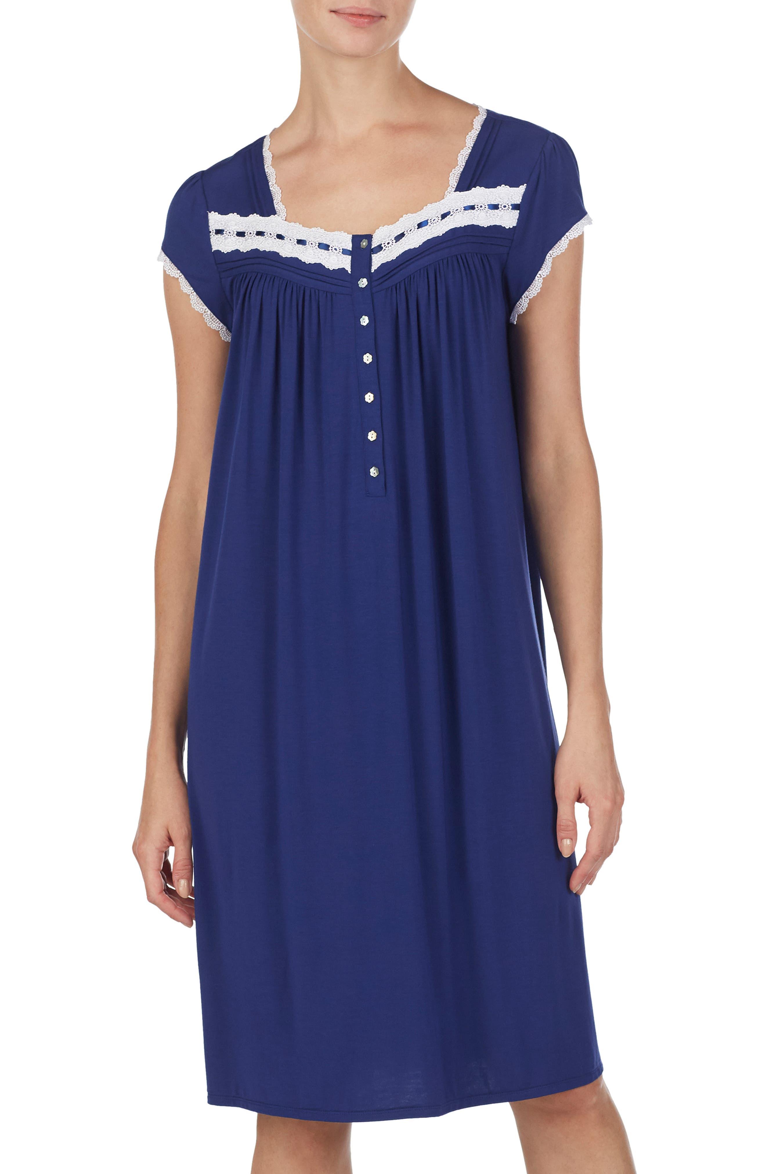 Eileen West Waltz Nightgown, Blue