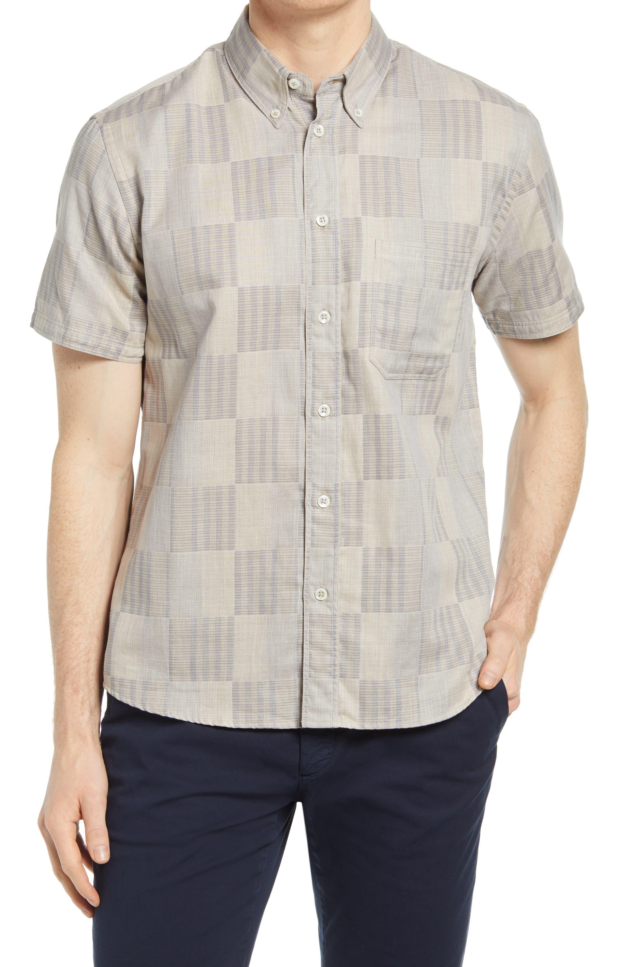 Men's Tuscumbia Standard Fit Plaid Short Sleeve Button-Down Shirt