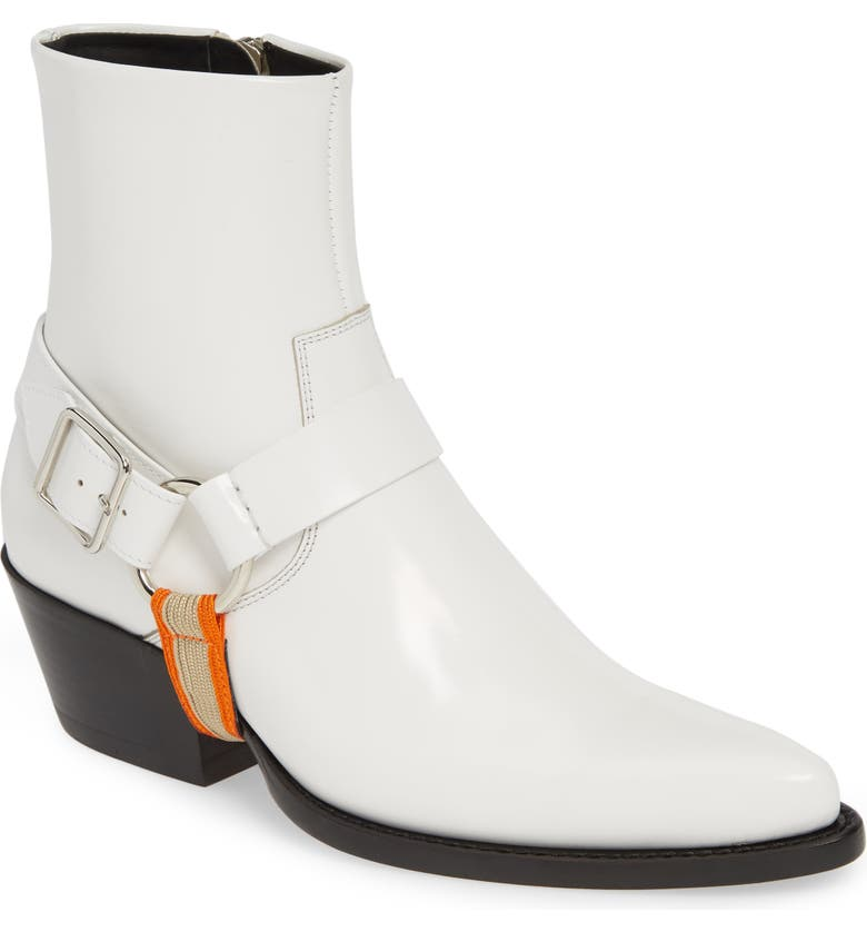 CALVIN KLEIN 205W39NYC Tex Harness Buckle Boot, Main, color, 100