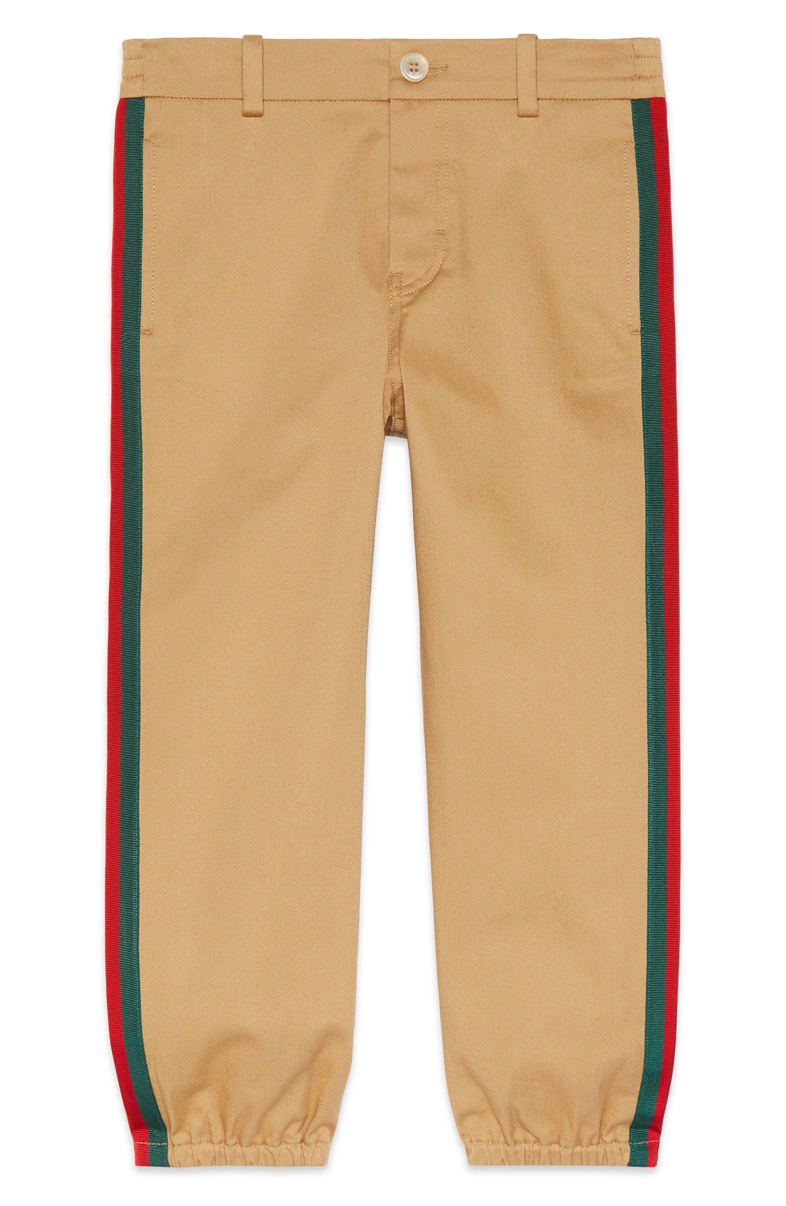 Stripe Stretch Gabardine Cotton Pants by Gucci