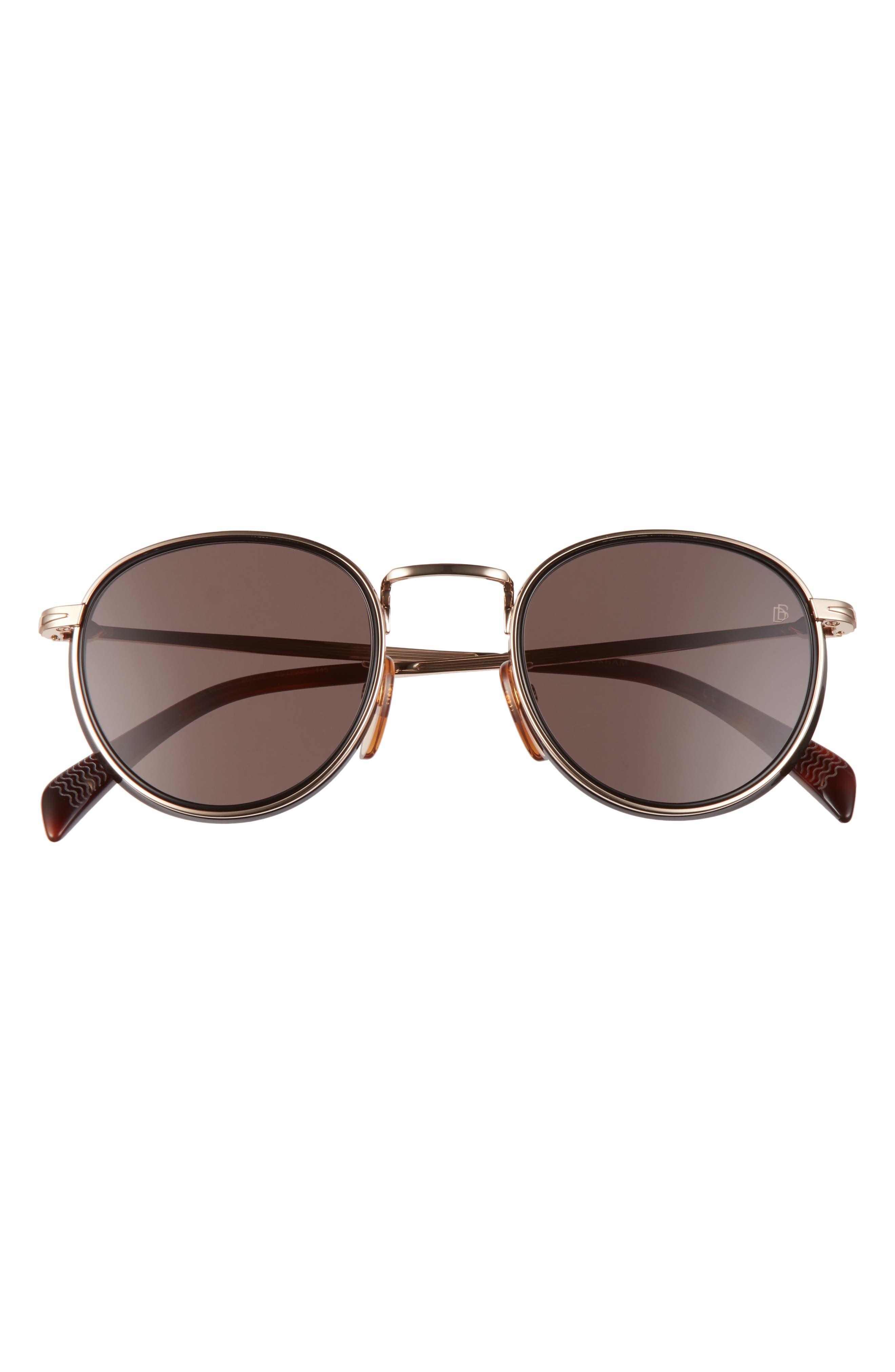 Men's Eyewear By David Beckham 49mm Round Sunglasses