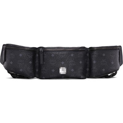 Mcm Adjustable Belt Bag - Black