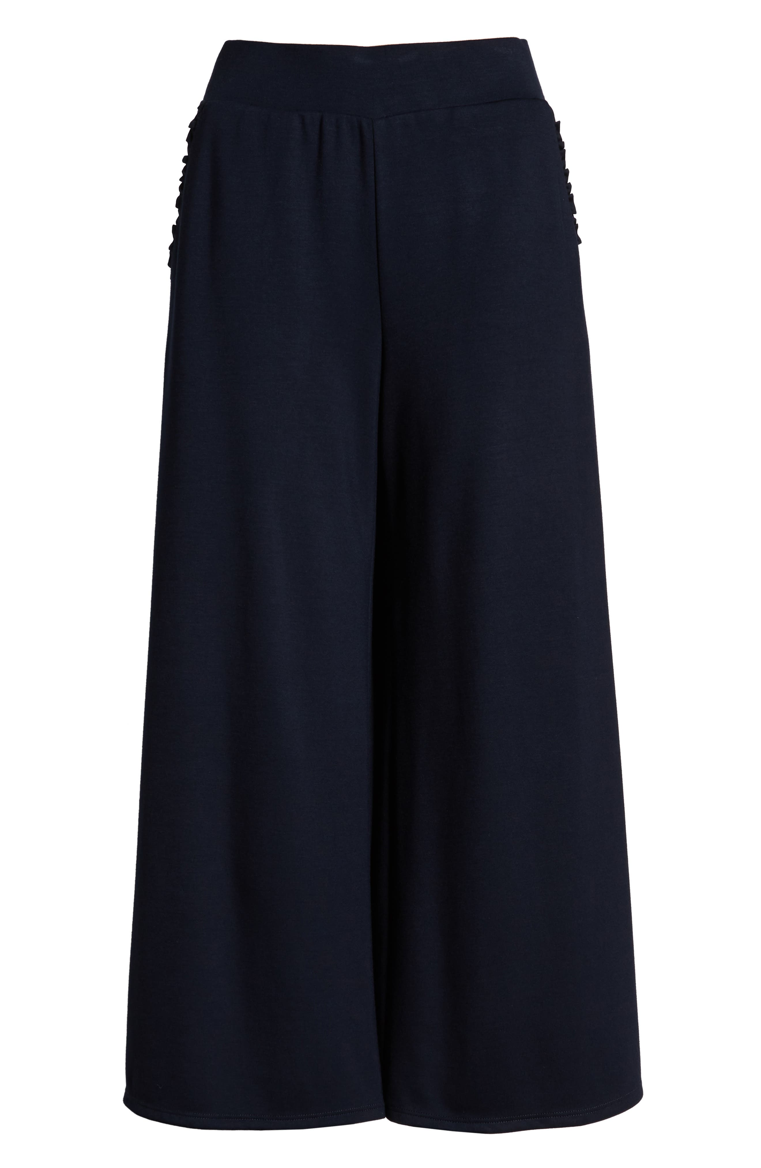 ,                             x Living in Yellow Wide Leg Crop Pants,                             Alternate thumbnail 7, color,                             NAVY