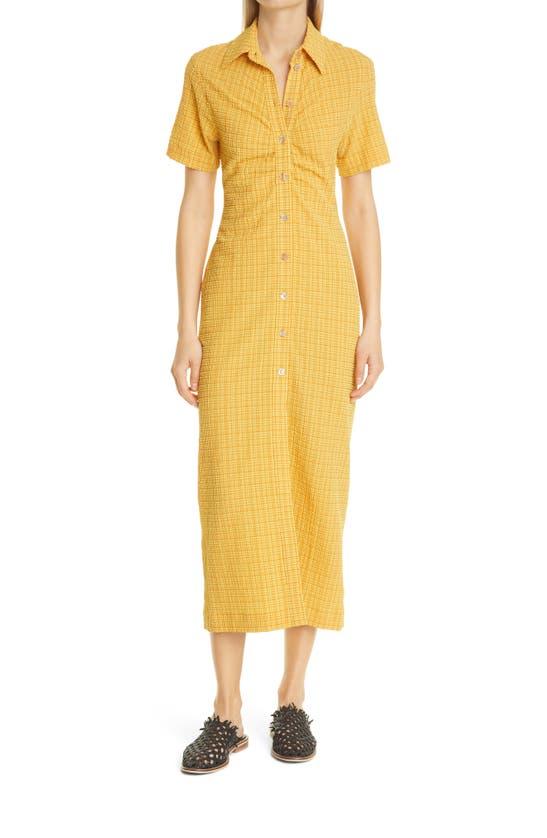 Nanushka Midi dresses SABRI CHECK SHORT SLEEVE SHIRTDRESS