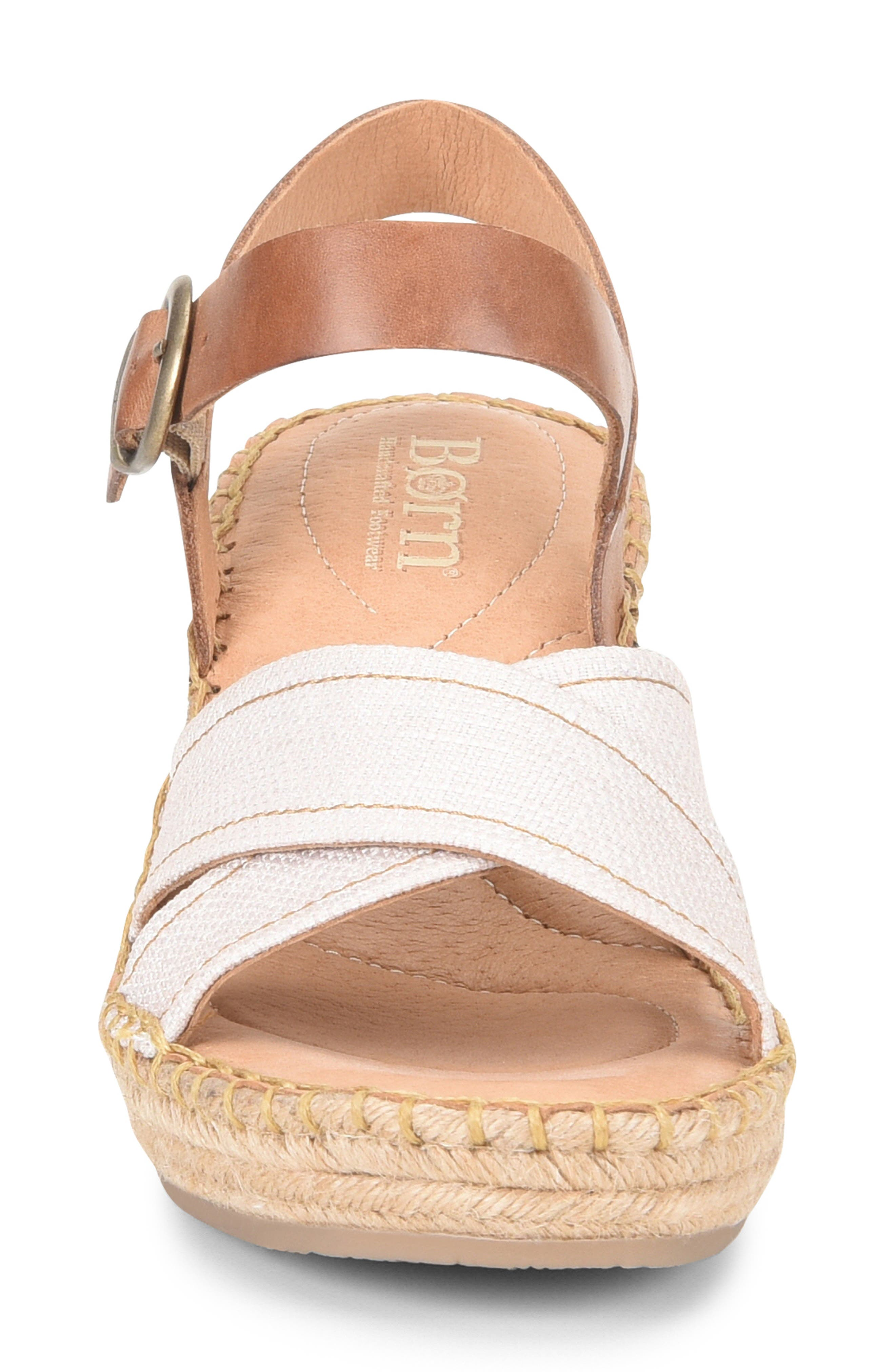 ,                             Payette Wedge Sandal,                             Alternate thumbnail 4, color,                             NATURAL/ TAN LEATHER