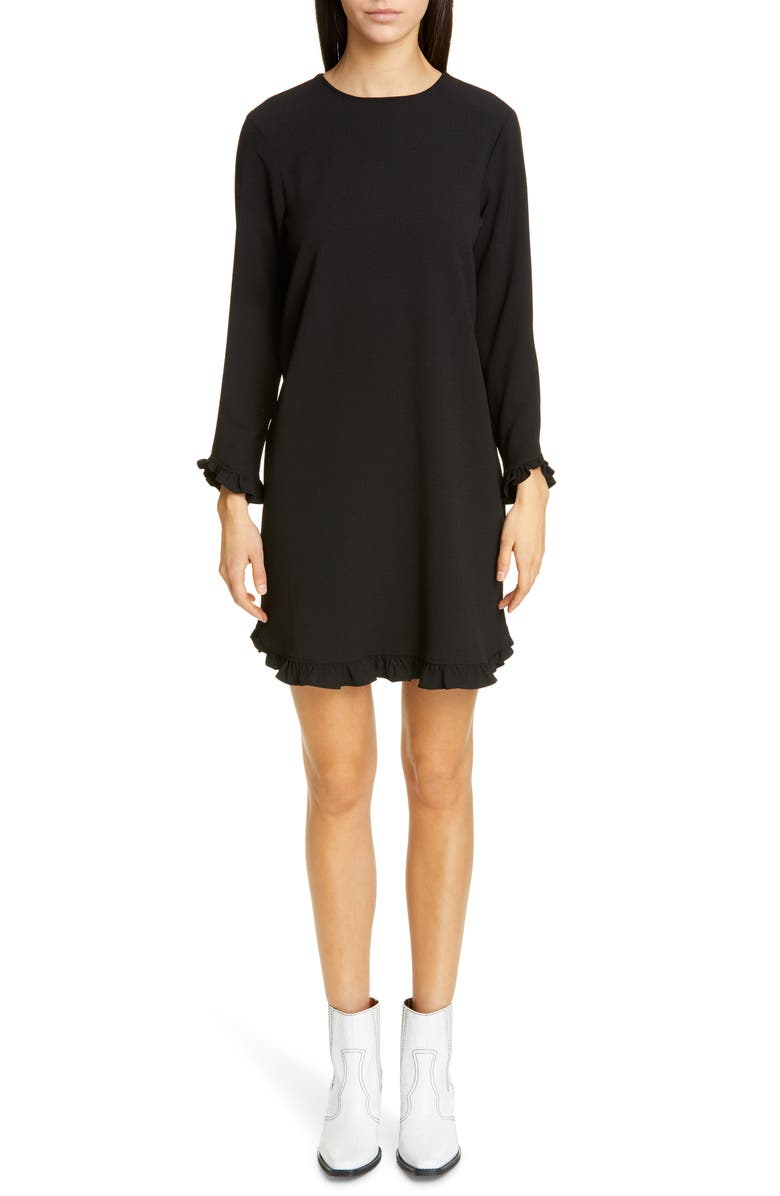 GANNI Clark Dress, Main, color, BLACK