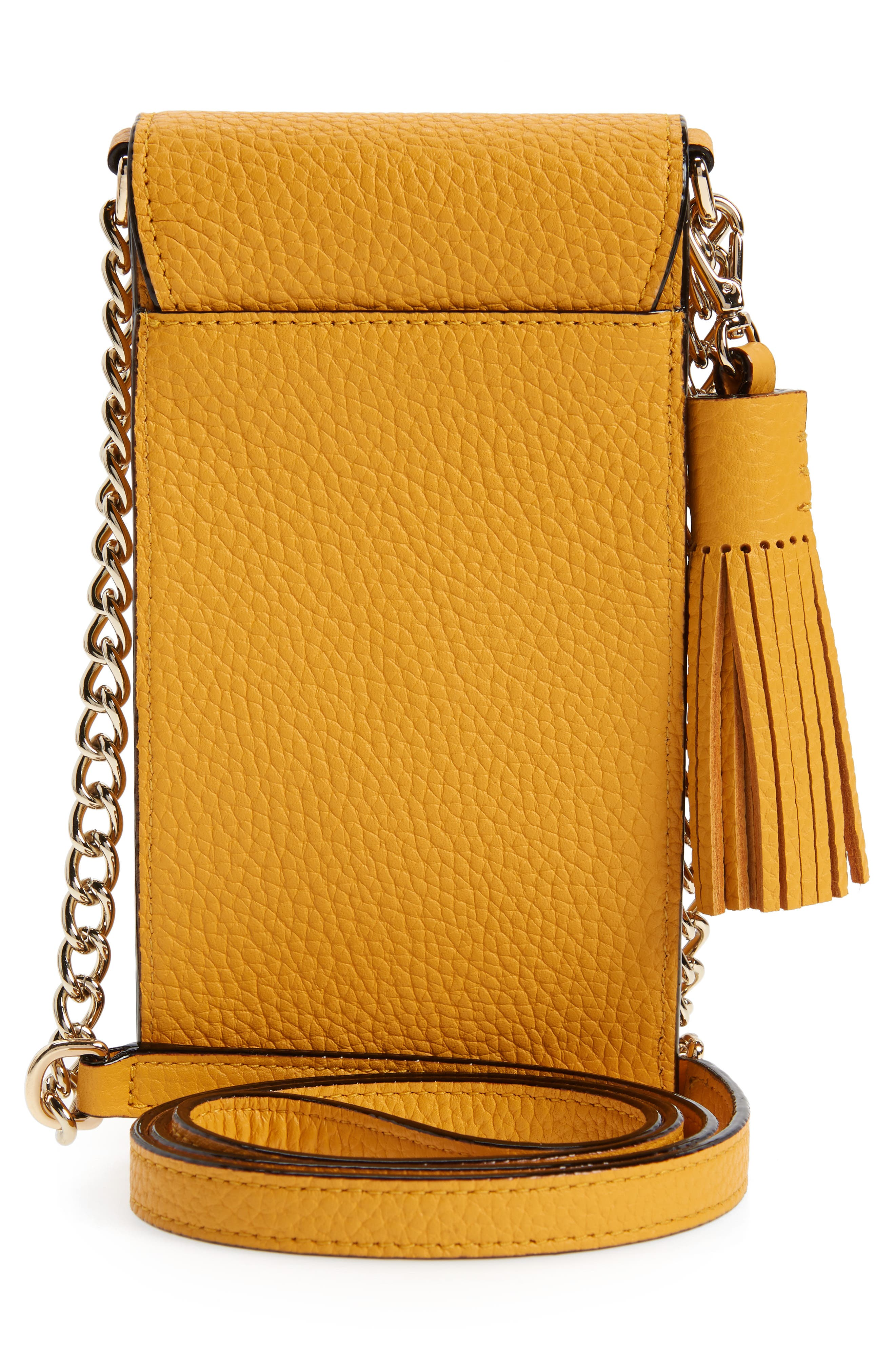 ,                             north/south leather smartphone crossbody bag,                             Alternate thumbnail 46, color,                             700