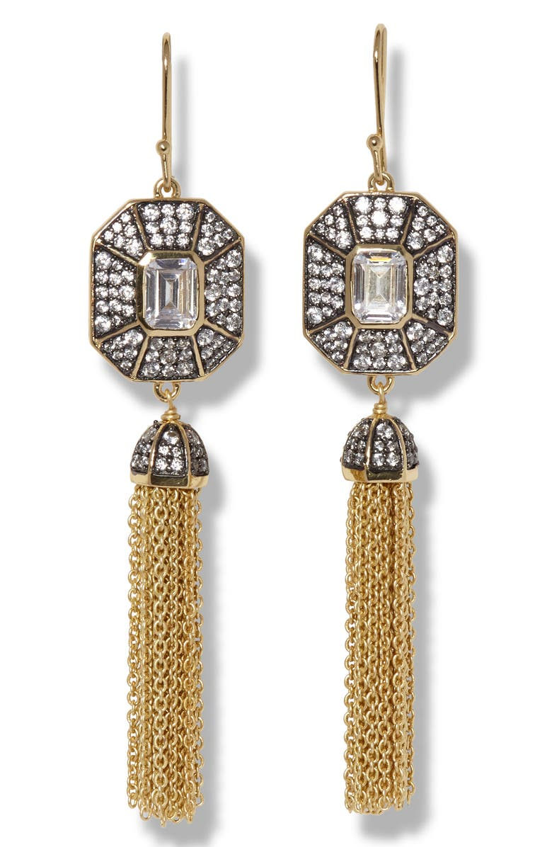 VINCE CAMUTO Tassel Earrings, Main, color, GOLD