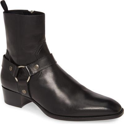 Saint Laurent Wyatt Harness Boot, Black