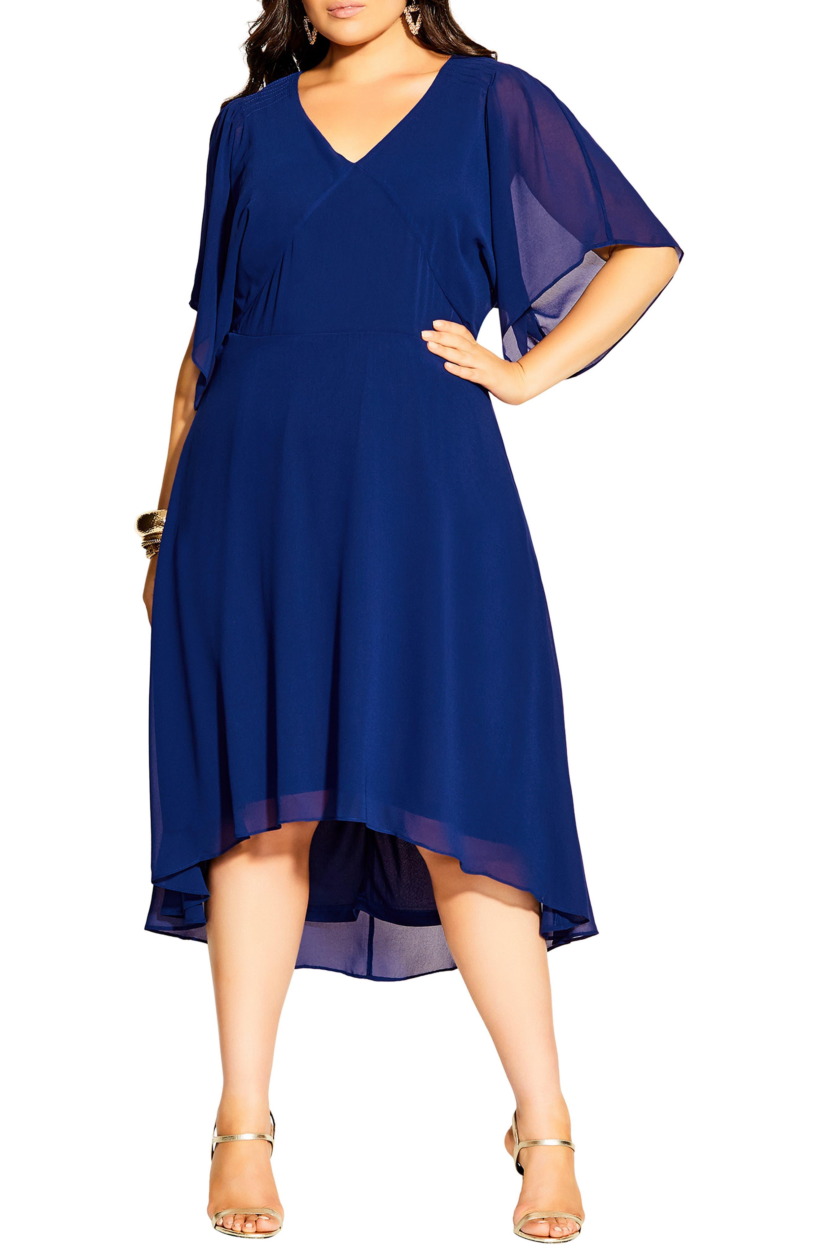 1920s Plus Size Flapper Dresses, Gatsby Dresses, Flapper Costumes Plus Size Womens City Chic Adore Midi Dress $59.50 AT vintagedancer.com