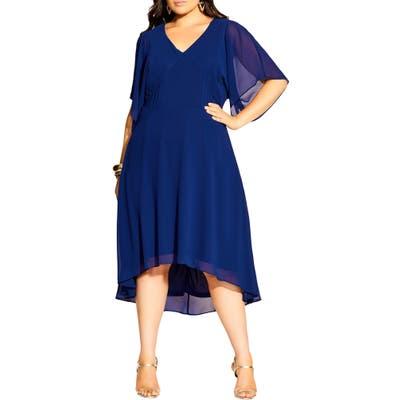 Plus Size City Chic Adore Midi Dress, Blue