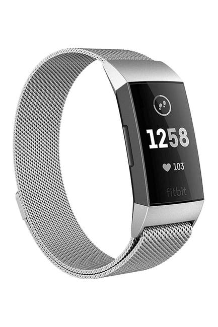 Image of POSH TECH Small Stainless Steel Band for Fitbit Charge 3 - Silver