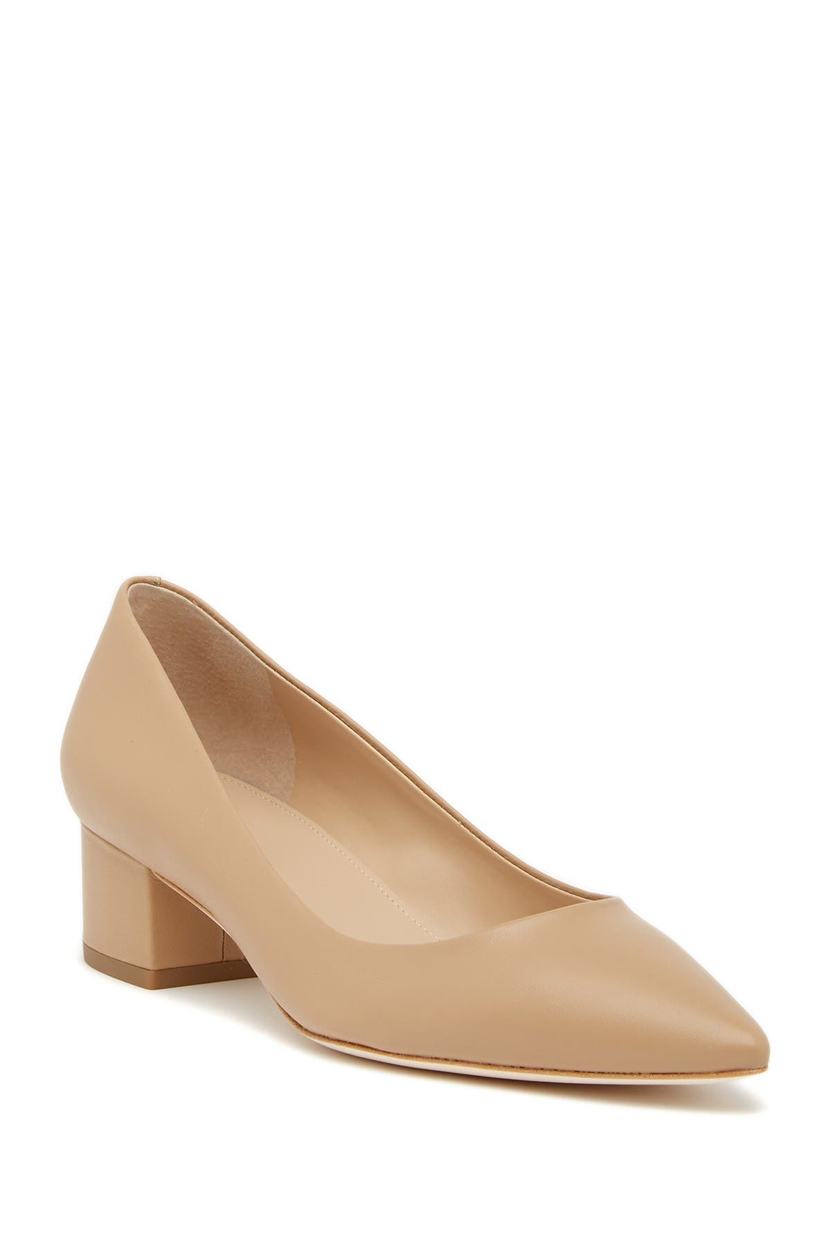 Image of Via Spiga Guervie Leather Block Heel Pump